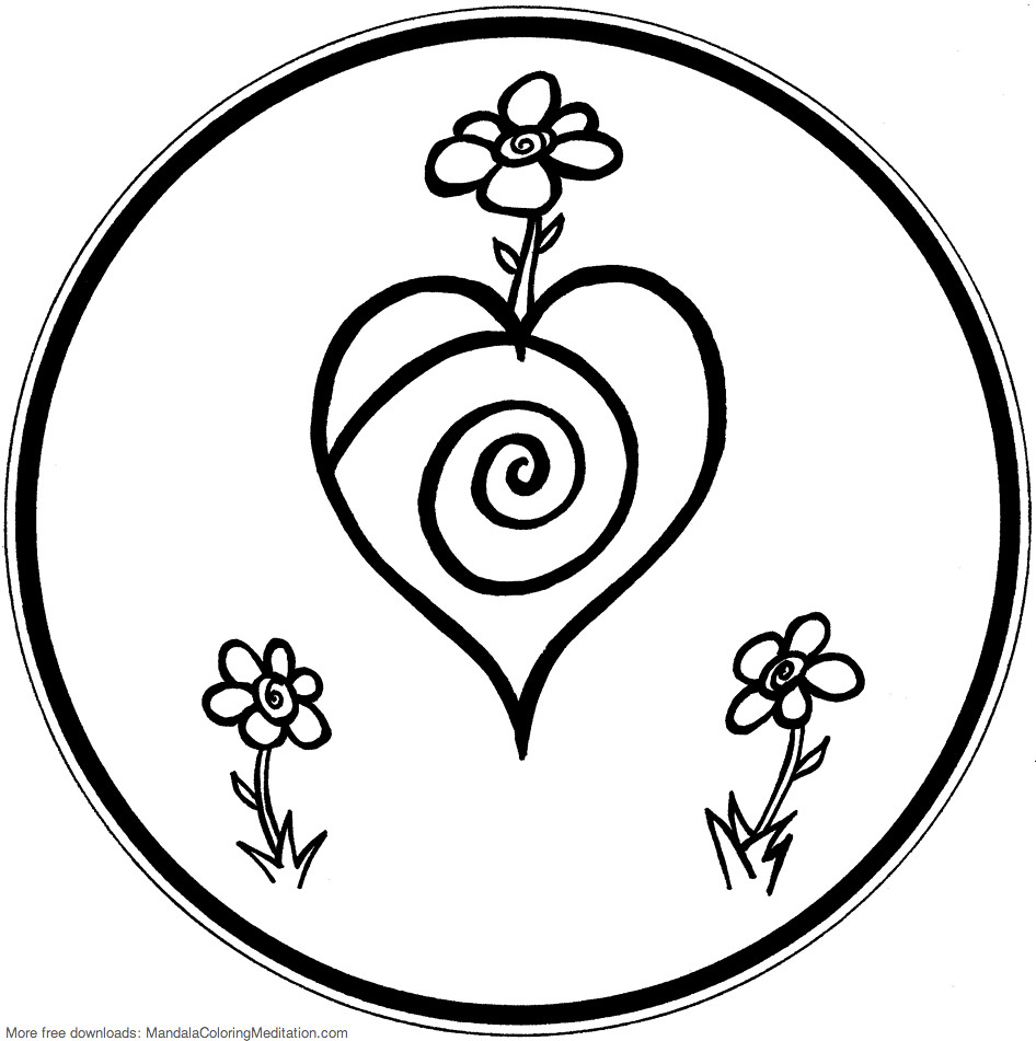 heart mandala coloring pages good mandala vector mandala floral