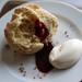scones, cream and jam