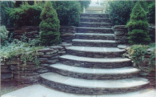 stone-fieldstone-steps-stairs-Atlanta | by ARNOLD Masonry and Landscape