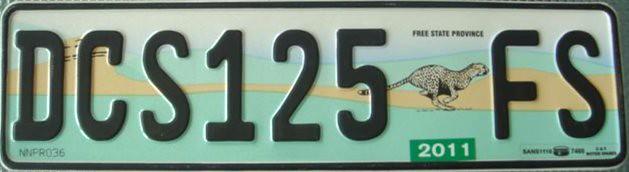 free state orange south africa license plate free state flickr. Black Bedroom Furniture Sets. Home Design Ideas