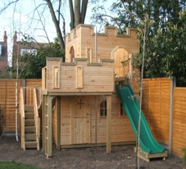 wooden castle playhouse