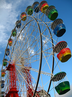 Wheels of colour at Luna Park | by Bell-Davey Photography