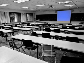 empty classroom | by but a stranger