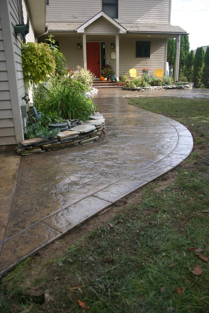Ryan Job Seamless Stamped Concrete Patio And Sidewalk Wi