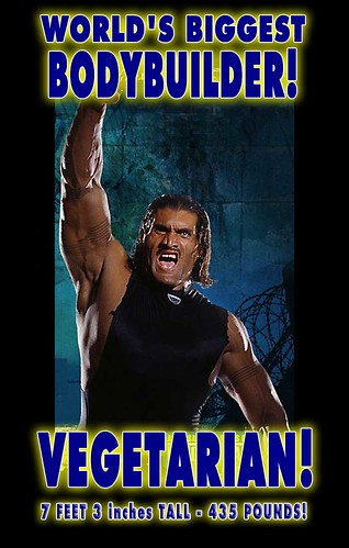 VEGETARIAN is Worlds Biggest Bodybuilder on Plant Muscle Protein Diet Great Khali Eats No Meat | by vegetarians-dominate-meat-eaters-01