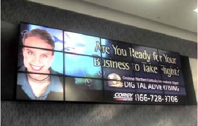 5x3 Video Wall For Airport Advertising 1 Multi Monitor