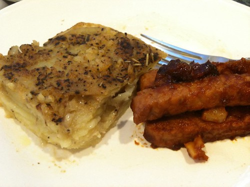 Vegan Scalloped Potatoes & Tempeh Bacon | by Jane1848