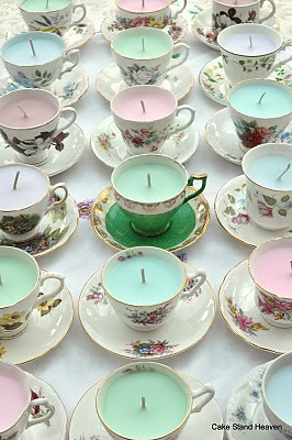 Vintage Scented Teacup Candles From Cakestandheaven Com