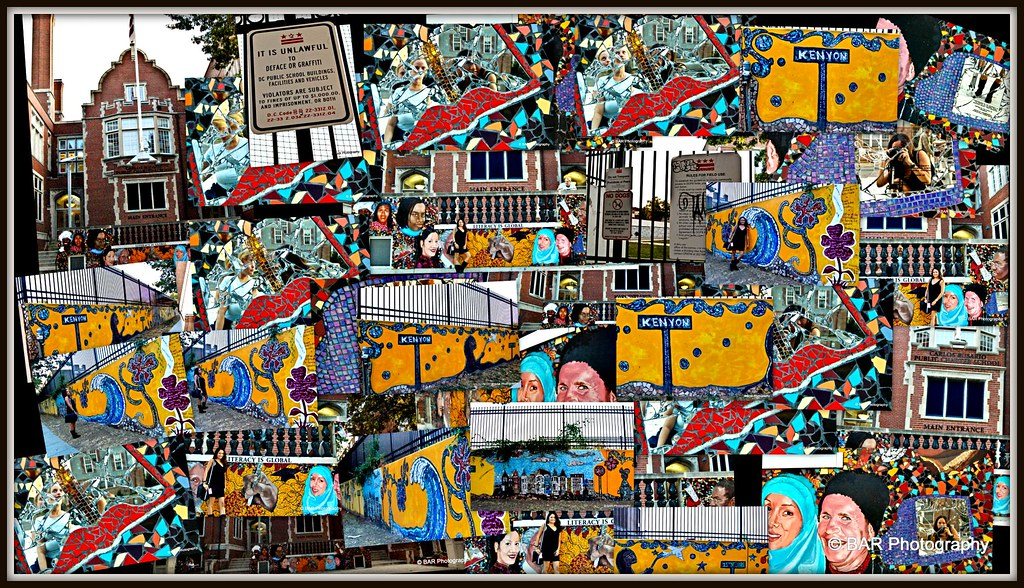 Carlos rosario public charter school mural collage flickr for Mural collage