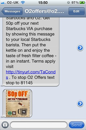 Location-based SMS: Coupon recipient | by Rob Enslin