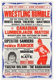 wrestling poster, hastings | by maraid