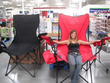Big chair Sams Club fun Is she really really small Or is Flickr