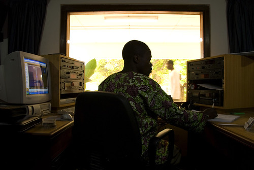 In the broadcast radio studio | by World Bank Photo Collection
