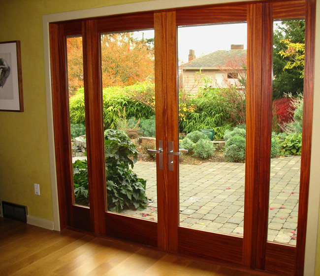 355 mahogany french door with sidelights an interior - Interior french doors with sidelights ...