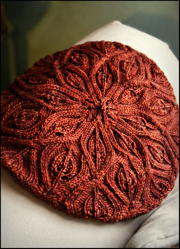 Autumn Vines Beret framed | by nevernotknitting