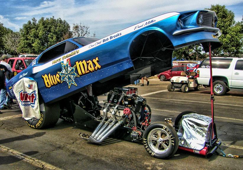 """Blue Max"" Nitro Funny Car | The engine of a Nitro Funny Car… | Flickr"