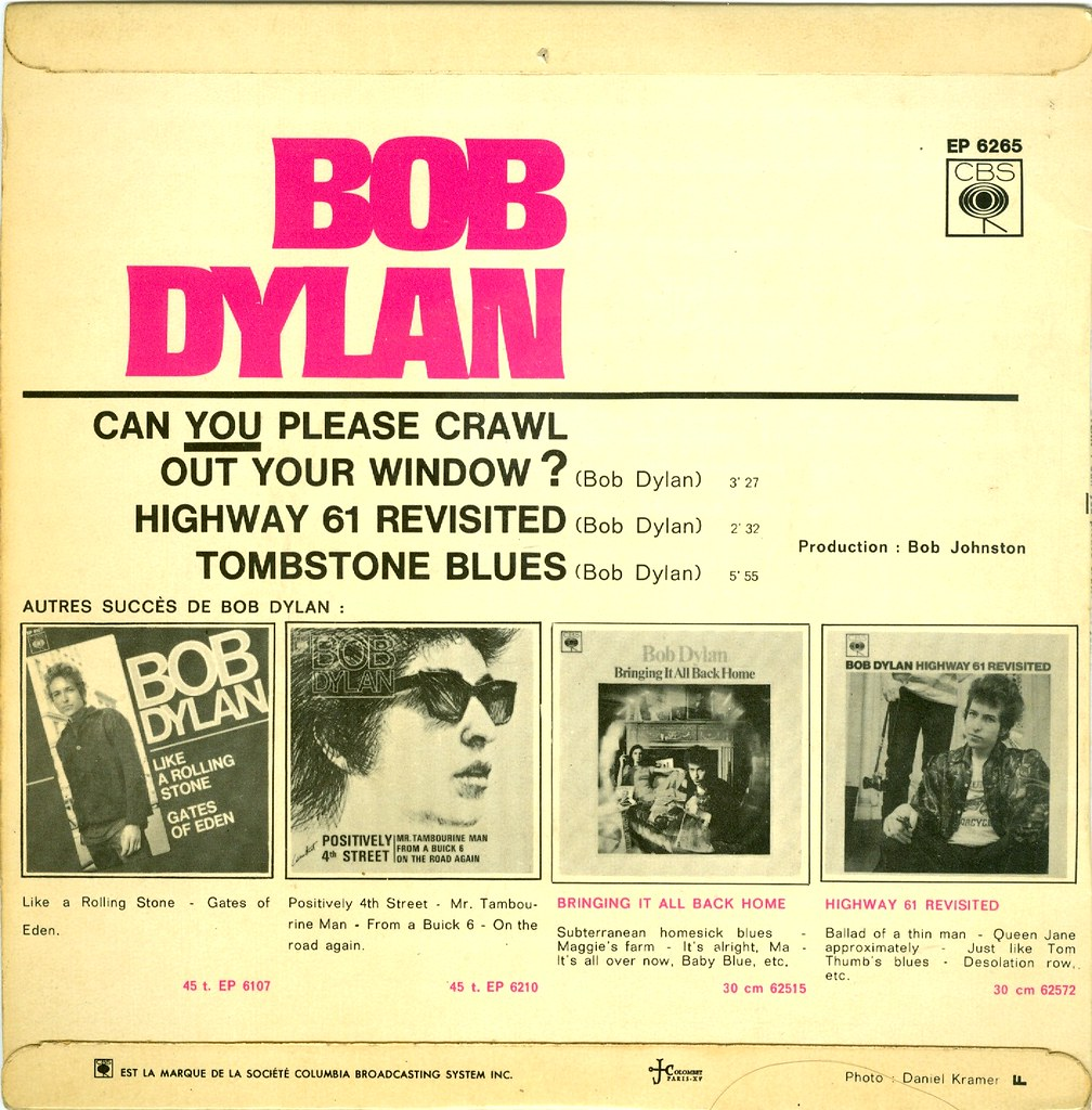 Dylan Bob Can You Please Crawl Out Your Window Ep F Flickr
