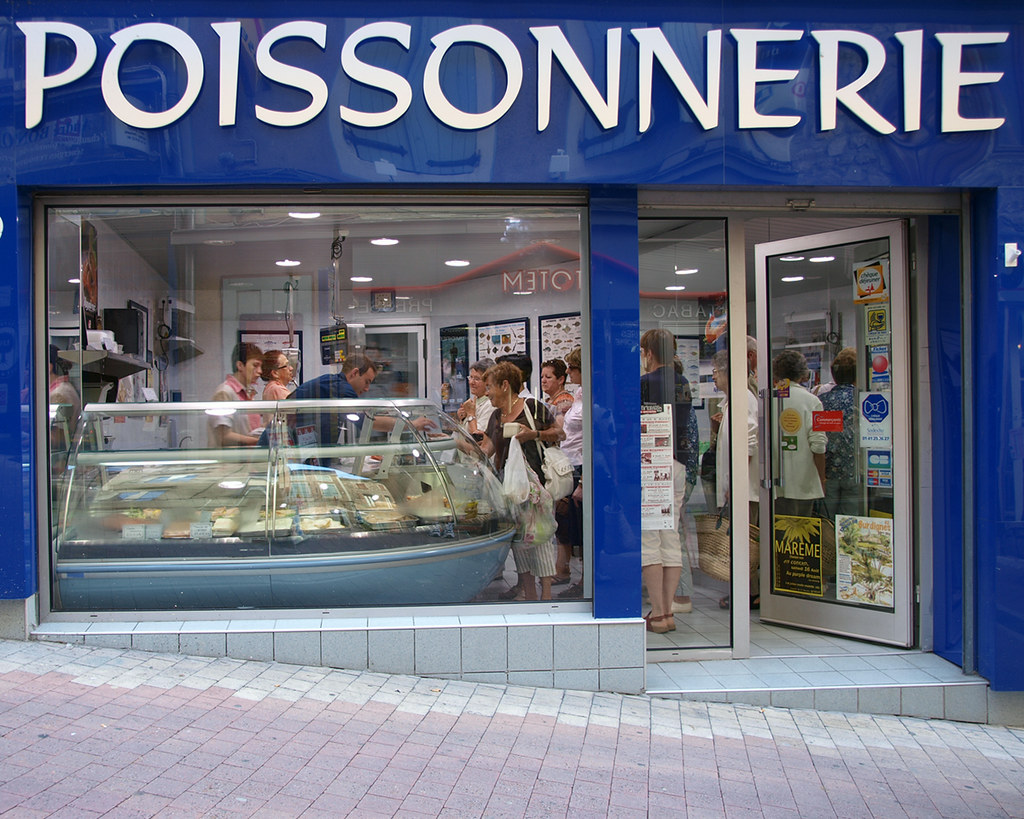 La Poissonnerie The Local Fish Monger Who Seems To Be A