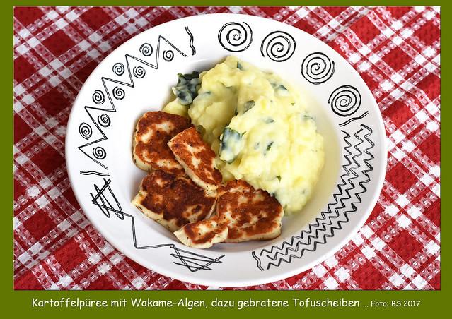 Leckere Algenküche ... Braunalge Wakame aus der Bretagne ... Foto: Brigitte Stolle 2017