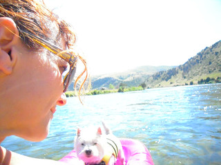 Floating with Violet on the Madison River | by maize hutton