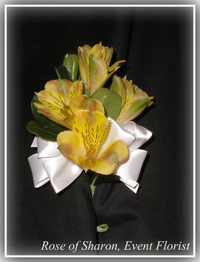 Corsage Yellow Alstroemeria Design Created By Rose Of Sha Flickr