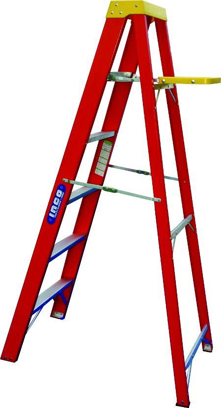 Escalera tipo tijera de fibra de vidrio para uso profesion for Escalera telescopica tipo tijera