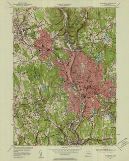 Waterbury Quadrangle 1955 - USGS Topographic Map 1:24,000 | by uconnlibrariesmagic