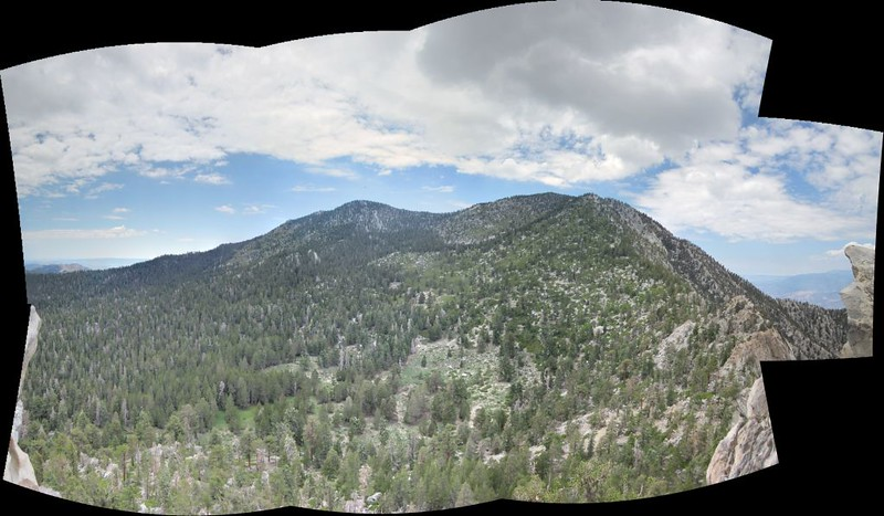 Multi-shot panorama of the Cornell Peak Summit view toward Jean, San Jacinto, and Miller Peaks