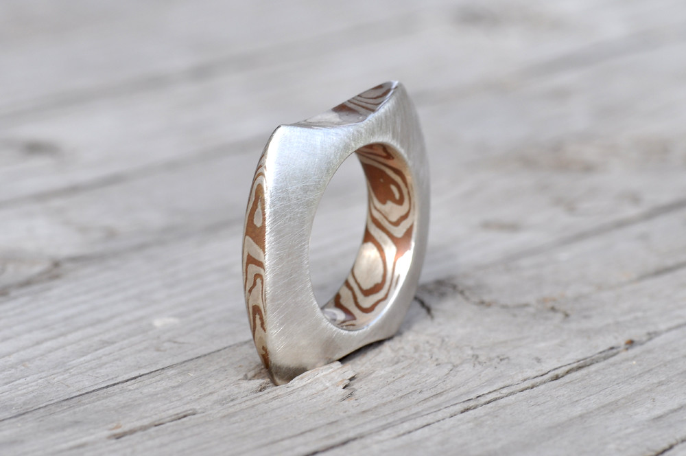 Mokume gane ringpendant fabricated silver ring with mokum flickr mokume gane ringpendant by sabineadesign aloadofball Gallery