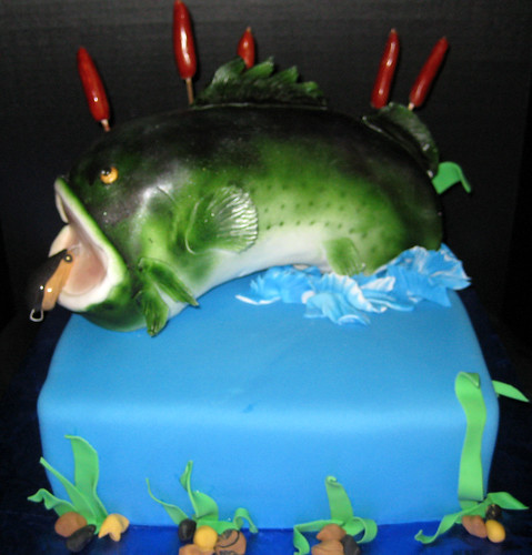 Bass Fish Cake Strawberry Cake Shara Lunn Flickr
