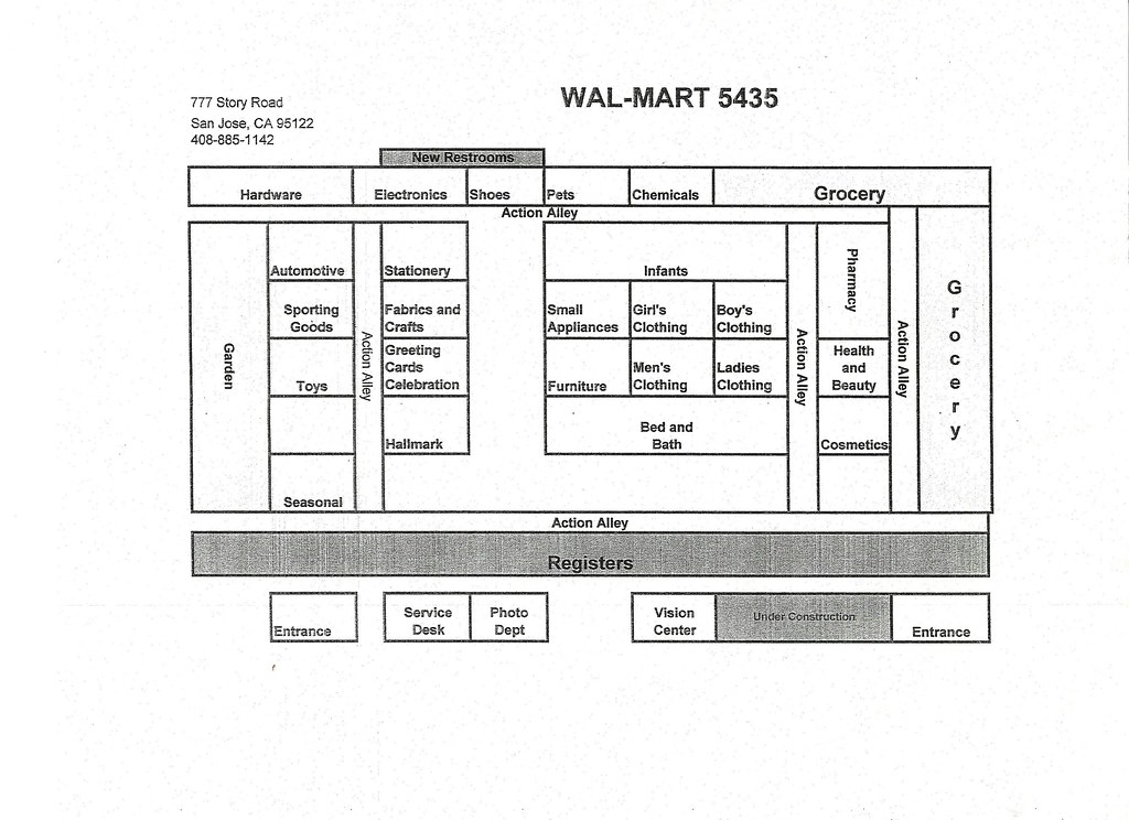 Wal Mart Store Map San Jose California 777 Story Road Thi Flickr