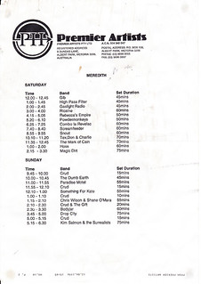 MMF1996_Lineup | by Aunty Meredith