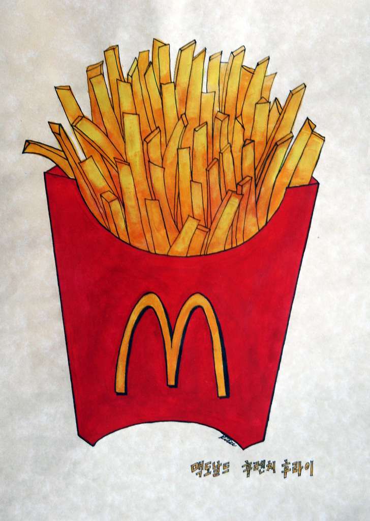 McDonald's French Fries (2007) | watercolor and ink on ...