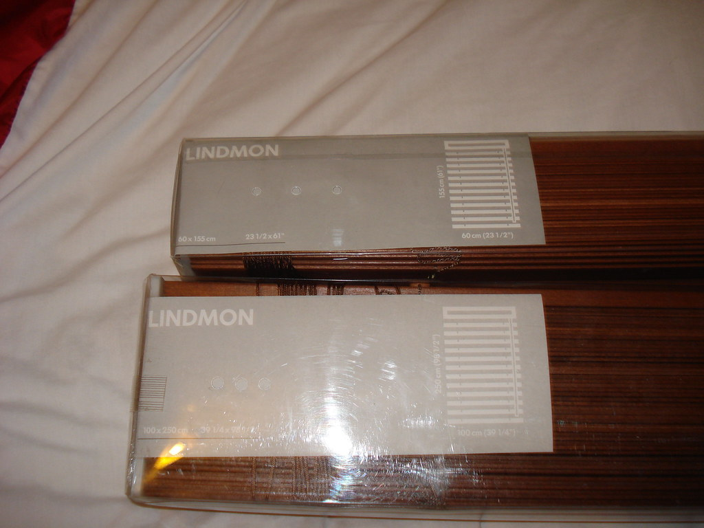 new lindmon ikea wooden blinds 25 for both o n o flickr. Black Bedroom Furniture Sets. Home Design Ideas