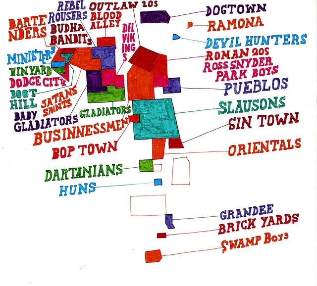 los angeles gang map 1960 flickr photo sharing