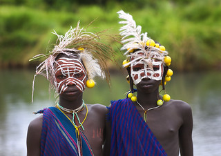 Surma kids with decoration - Kibish Ethiopia | by Eric Lafforgue