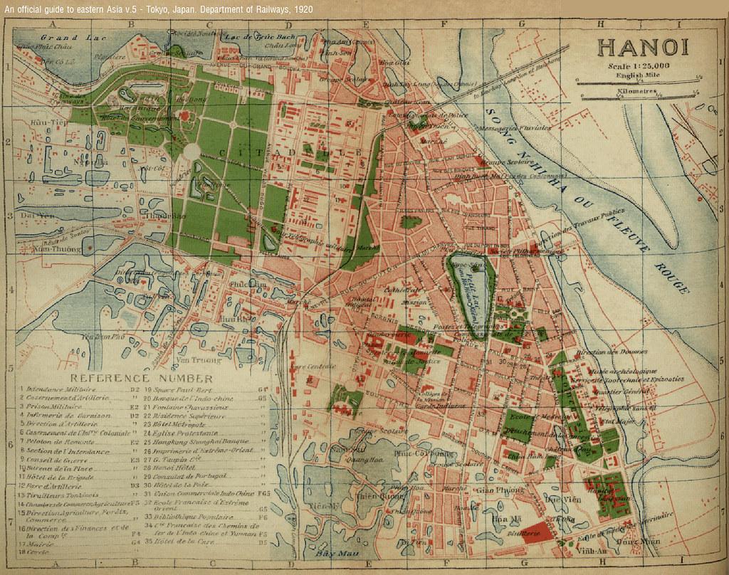 Hanoi Map) BẢN ĐỒ HN 1920 | Map of Hanoi printed in a book … | Flickr