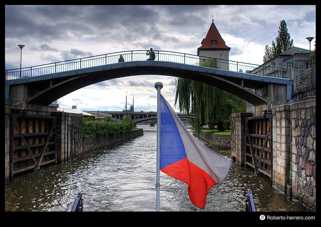 Floodgate at vltva river prague czech republic - Roberto herrero ...