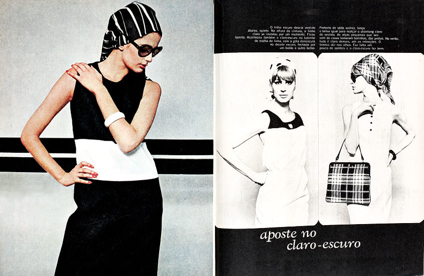 1965 Brazilian Fashion Magazine Manequim January 1965