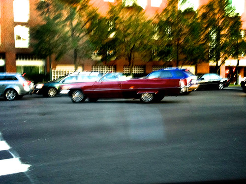 Giant Cadillac, heavily processed | by rotorglow