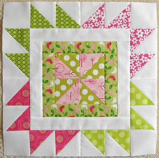 Quilting Divas block for Sandy | by flossyblossy