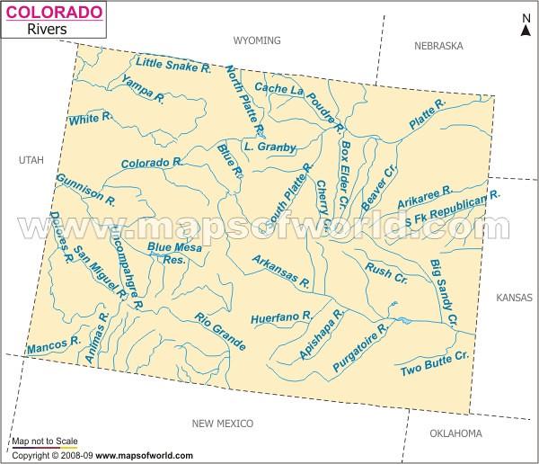Colorado River Map Wwwmapsofworldcomusastatescolorado Flickr - Rivers in colorado map
