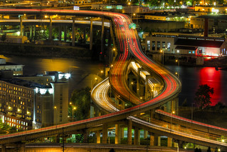 Light Trails on Marquam Freeway at Night - HDR | by David Gn Photography