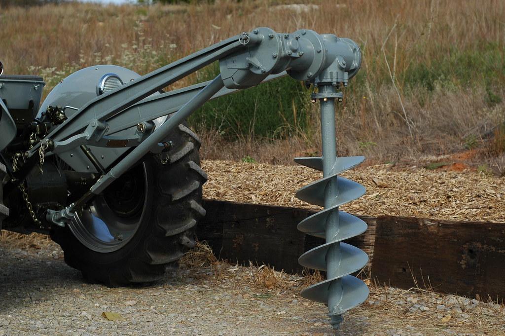 Ford Tractor Auger Parts : D fe ferguson post hole digger steve bieberich flickr