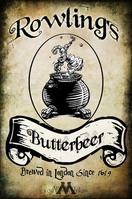 Harry Potter Butterbeer Logo Butterbeer Label | Fli...
