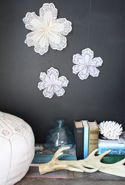 Diy doily star decorations featured on my the style
