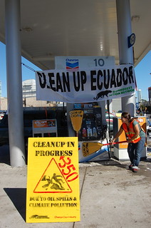 10/10/10 Cleaning Up and Shutting Down Chevron Stations. | by Rainforest Action Network