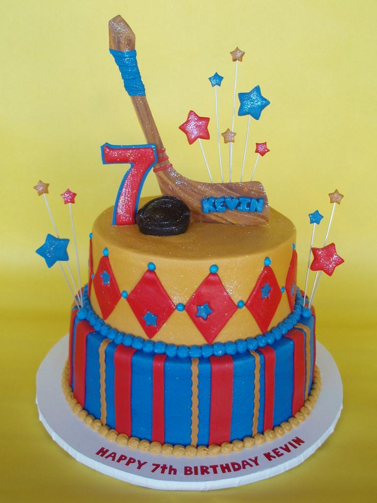 Hockey Themed Birthday Cake Hockey Fanatic Kevin