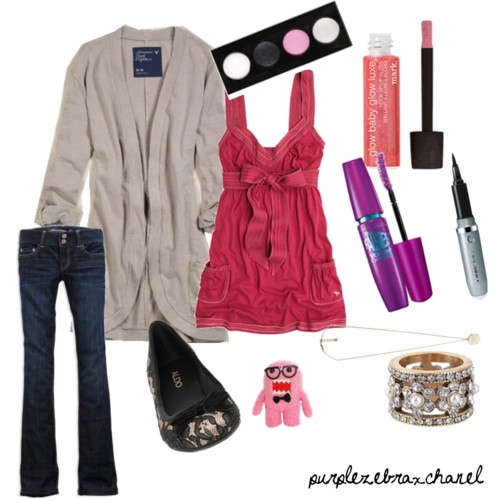 Cute Valentine S Day Outfit For School Created On Polyvore Flickr