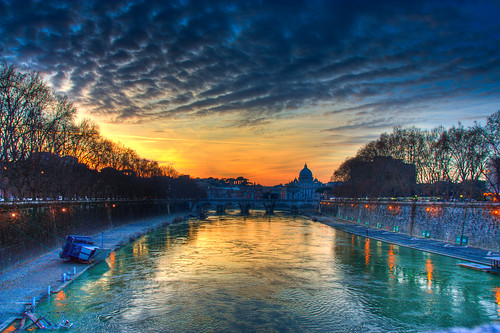 Saint Peter and Angels Bridge - Ponte Sant'Angelo, Rome - Italy (HDR) | by luigig75